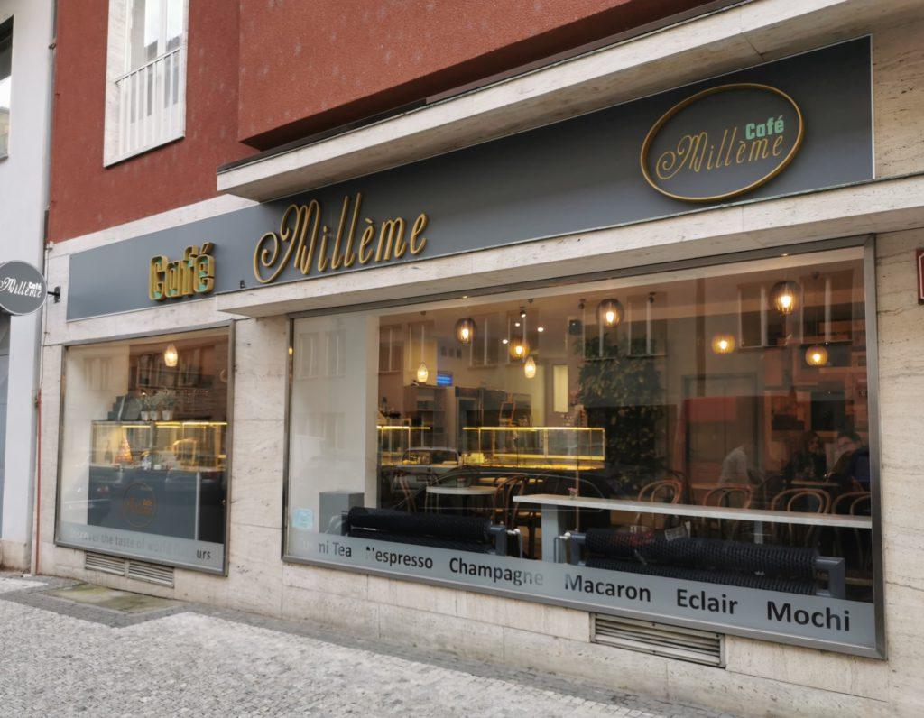 Hodnocení kaváren, testování kaváren, makronky, Café Millème